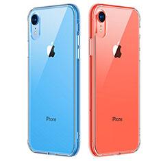 Silikon Schutzhülle Ultra Dünn Tasche Durchsichtig Transparent T07 für Apple iPhone XR Klar