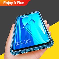Silikon Schutzhülle Ultra Dünn Tasche Durchsichtig Transparent T07 für Huawei Enjoy 9 Plus Hellblau