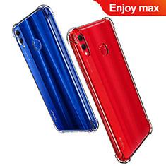 Silikon Schutzhülle Ultra Dünn Tasche Durchsichtig Transparent T07 für Huawei Enjoy Max Klar