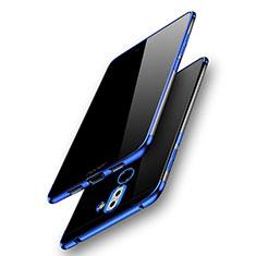 Silikon Schutzhülle Ultra Dünn Tasche Durchsichtig Transparent T07 für Huawei GR5 (2017) Blau