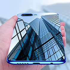 Silikon Schutzhülle Ultra Dünn Tasche Durchsichtig Transparent T07 für Huawei Honor 10 Blau