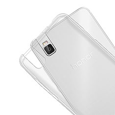 Silikon Schutzhülle Ultra Dünn Tasche Durchsichtig Transparent T07 für Huawei Honor 7i shot X Klar