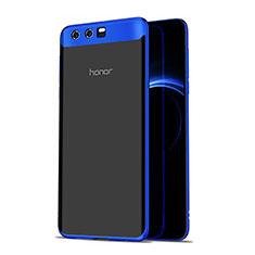 Silikon Schutzhülle Ultra Dünn Tasche Durchsichtig Transparent T07 für Huawei Honor 9 Blau