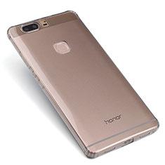 Silikon Schutzhülle Ultra Dünn Tasche Durchsichtig Transparent T07 für Huawei Honor V8 Grau