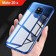 Silikon Schutzhülle Ultra Dünn Tasche Durchsichtig Transparent T07 für Huawei Mate 20 X 5G Blau