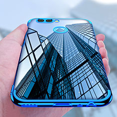 Silikon Schutzhülle Ultra Dünn Tasche Durchsichtig Transparent T07 für Huawei Nova 2 Plus Blau