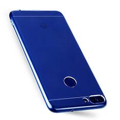 Silikon Schutzhülle Ultra Dünn Tasche Durchsichtig Transparent T07 für Huawei P Smart Klar