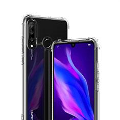 Silikon Schutzhülle Ultra Dünn Tasche Durchsichtig Transparent T07 für Huawei P30 Lite XL Klar