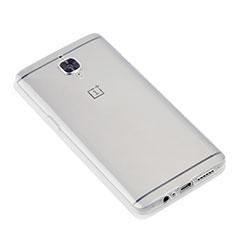 Silikon Schutzhülle Ultra Dünn Tasche Durchsichtig Transparent T07 für OnePlus 3 Klar
