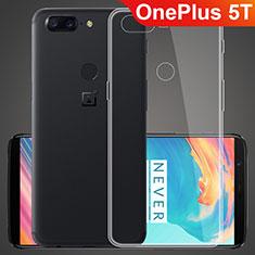 Silikon Schutzhülle Ultra Dünn Tasche Durchsichtig Transparent T07 für OnePlus 5T A5010 Klar