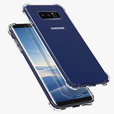 Silikon Schutzhülle Ultra Dünn Tasche Durchsichtig Transparent T07 für Samsung Galaxy Note 8 Duos N950F Klar