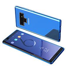 Silikon Schutzhülle Ultra Dünn Tasche Durchsichtig Transparent T07 für Samsung Galaxy Note 9 Blau
