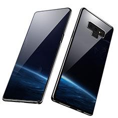 Silikon Schutzhülle Ultra Dünn Tasche Durchsichtig Transparent T07 für Samsung Galaxy Note 9 Schwarz