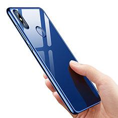 Silikon Schutzhülle Ultra Dünn Tasche Durchsichtig Transparent T07 für Xiaomi Mi 8 SE Blau