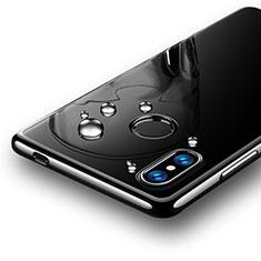 Silikon Schutzhülle Ultra Dünn Tasche Durchsichtig Transparent T07 für Xiaomi Mi 8 SE Schwarz
