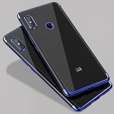 Silikon Schutzhülle Ultra Dünn Tasche Durchsichtig Transparent T07 für Xiaomi Mi A2 Blau