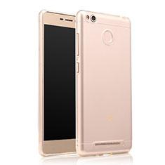 Silikon Schutzhülle Ultra Dünn Tasche Durchsichtig Transparent T07 für Xiaomi Redmi 3 Pro Klar
