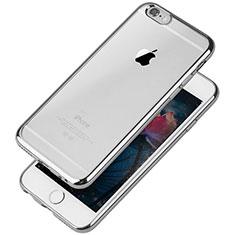 Silikon Schutzhülle Ultra Dünn Tasche Durchsichtig Transparent T08 für Apple iPhone 6 Silber