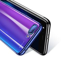 Silikon Schutzhülle Ultra Dünn Tasche Durchsichtig Transparent T08 für Huawei Honor 10 Blau