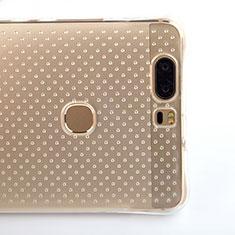 Silikon Schutzhülle Ultra Dünn Tasche Durchsichtig Transparent T08 für Huawei Honor V8 Klar
