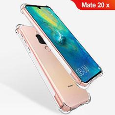 Silikon Schutzhülle Ultra Dünn Tasche Durchsichtig Transparent T08 für Huawei Mate 20 X 5G Klar