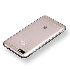 Silikon Schutzhülle Ultra Dünn Tasche Durchsichtig Transparent T08 für Huawei Y6 Pro (2017) Klar