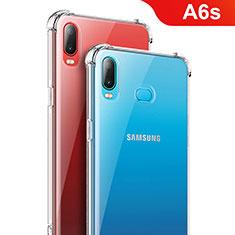 Silikon Schutzhülle Ultra Dünn Tasche Durchsichtig Transparent T08 für Samsung Galaxy A6s Klar