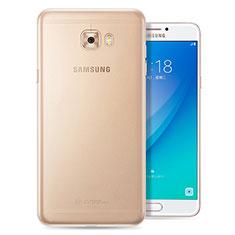 Silikon Schutzhülle Ultra Dünn Tasche Durchsichtig Transparent T08 für Samsung Galaxy C7 Pro C7010 Klar