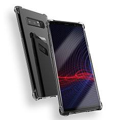 Silikon Schutzhülle Ultra Dünn Tasche Durchsichtig Transparent T08 für Samsung Galaxy Note 8 Duos N950F Klar