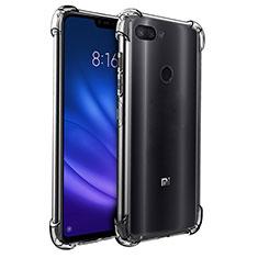 Silikon Schutzhülle Ultra Dünn Tasche Durchsichtig Transparent T08 für Xiaomi Mi 8 Lite Klar