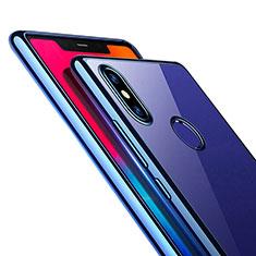 Silikon Schutzhülle Ultra Dünn Tasche Durchsichtig Transparent T08 für Xiaomi Mi 8 SE Blau