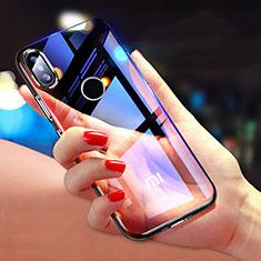Silikon Schutzhülle Ultra Dünn Tasche Durchsichtig Transparent T08 für Xiaomi Mi 8 SE Schwarz
