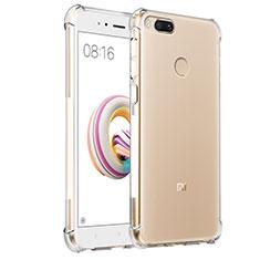 Silikon Schutzhülle Ultra Dünn Tasche Durchsichtig Transparent T08 für Xiaomi Mi A1 Klar