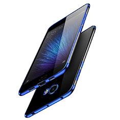 Silikon Schutzhülle Ultra Dünn Tasche Durchsichtig Transparent T08 für Xiaomi Mi Note 2 Blau