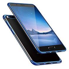 Silikon Schutzhülle Ultra Dünn Tasche Durchsichtig Transparent T08 für Xiaomi Mi Note 3 Blau