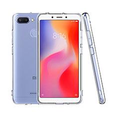 Silikon Schutzhülle Ultra Dünn Tasche Durchsichtig Transparent T08 für Xiaomi Redmi 6 Klar
