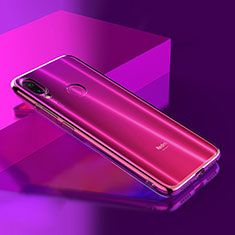 Silikon Schutzhülle Ultra Dünn Tasche Durchsichtig Transparent T08 für Xiaomi Redmi Note 7 Pro Klar