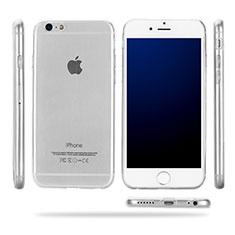 Silikon Schutzhülle Ultra Dünn Tasche Durchsichtig Transparent T09 für Apple iPhone 6S Klar