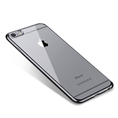 Silikon Schutzhülle Ultra Dünn Tasche Durchsichtig Transparent T09 für Apple iPhone 6S Plus Schwarz