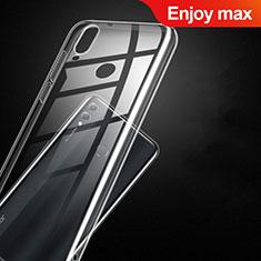 Silikon Schutzhülle Ultra Dünn Tasche Durchsichtig Transparent T09 für Huawei Enjoy Max Klar