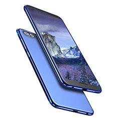 Silikon Schutzhülle Ultra Dünn Tasche Durchsichtig Transparent T09 für Huawei Honor V10 Blau