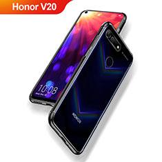 Silikon Schutzhülle Ultra Dünn Tasche Durchsichtig Transparent T09 für Huawei Honor V20 Schwarz