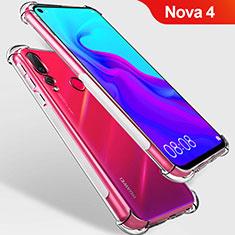 Silikon Schutzhülle Ultra Dünn Tasche Durchsichtig Transparent T09 für Huawei Nova 4 Klar
