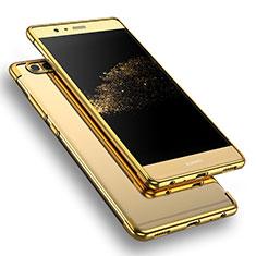 Silikon Schutzhülle Ultra Dünn Tasche Durchsichtig Transparent T09 für Huawei P9 Gold