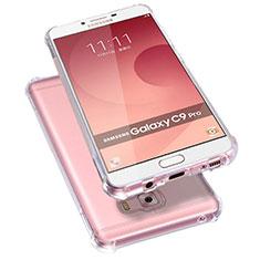 Silikon Schutzhülle Ultra Dünn Tasche Durchsichtig Transparent T09 für Samsung Galaxy C9 Pro C9000 Klar