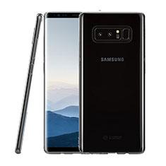 Silikon Schutzhülle Ultra Dünn Tasche Durchsichtig Transparent T09 für Samsung Galaxy Note 8 Duos N950F Klar
