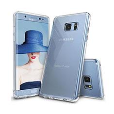 Silikon Schutzhülle Ultra Dünn Tasche Durchsichtig Transparent T09 für Samsung Galaxy S7 Edge G935F Klar