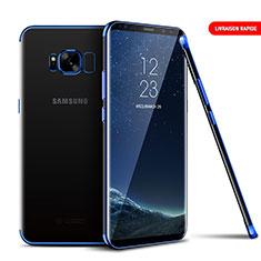 Silikon Schutzhülle Ultra Dünn Tasche Durchsichtig Transparent T09 für Samsung Galaxy S8 Blau