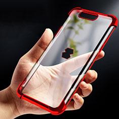 Silikon Schutzhülle Ultra Dünn Tasche Durchsichtig Transparent T09 für Xiaomi Black Shark Rot