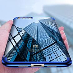 Silikon Schutzhülle Ultra Dünn Tasche Durchsichtig Transparent T09 für Xiaomi Mi Note 3 Blau